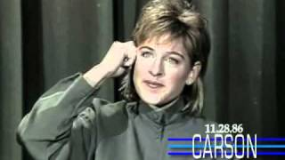 Ellen Degeneres Funny 1st Appearance Doing Stand Up Comedy on Johnny Carson's Tonight Show(Ellen DeGeneres first stand-up comedy performance and interview on