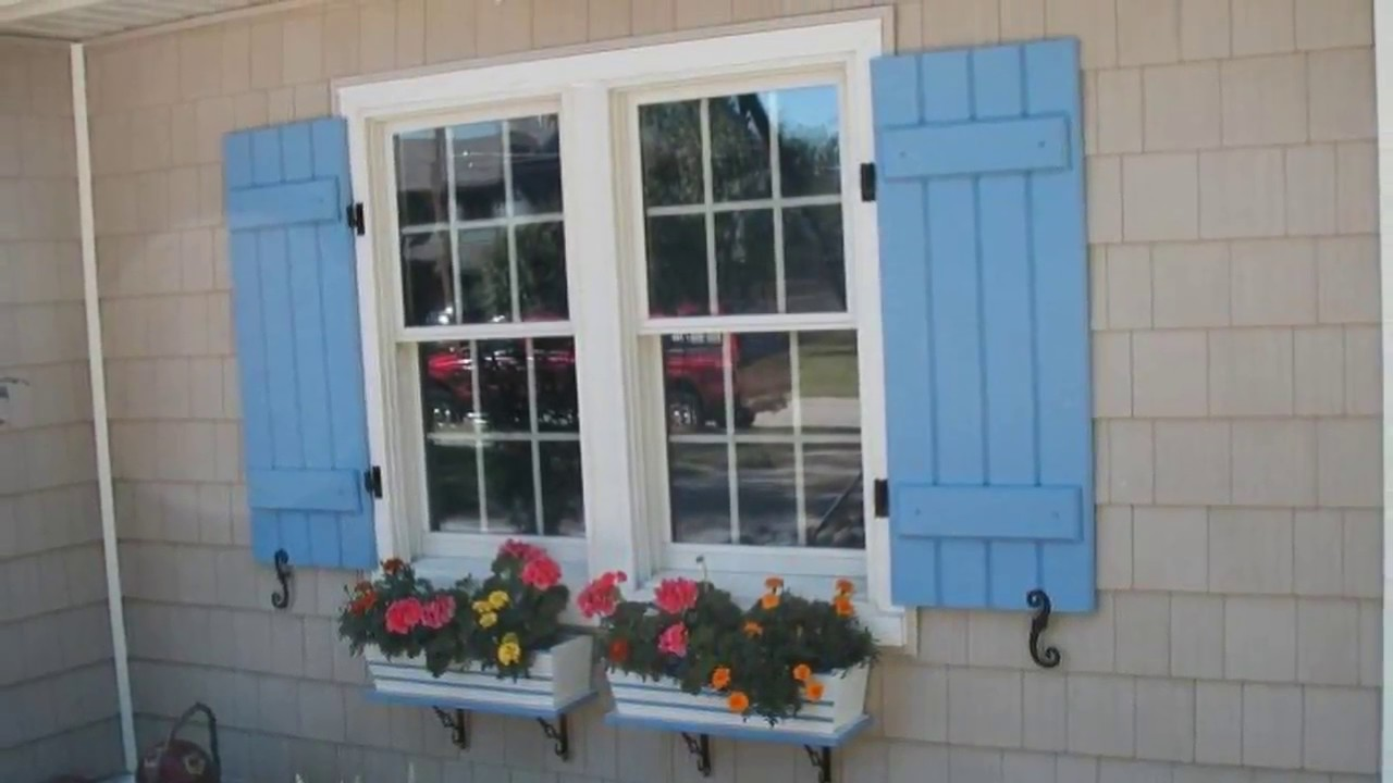 Exterior Window Shutters for Home Ideas - YouTube