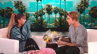 Justin Bieber Surprises Ariana Grande