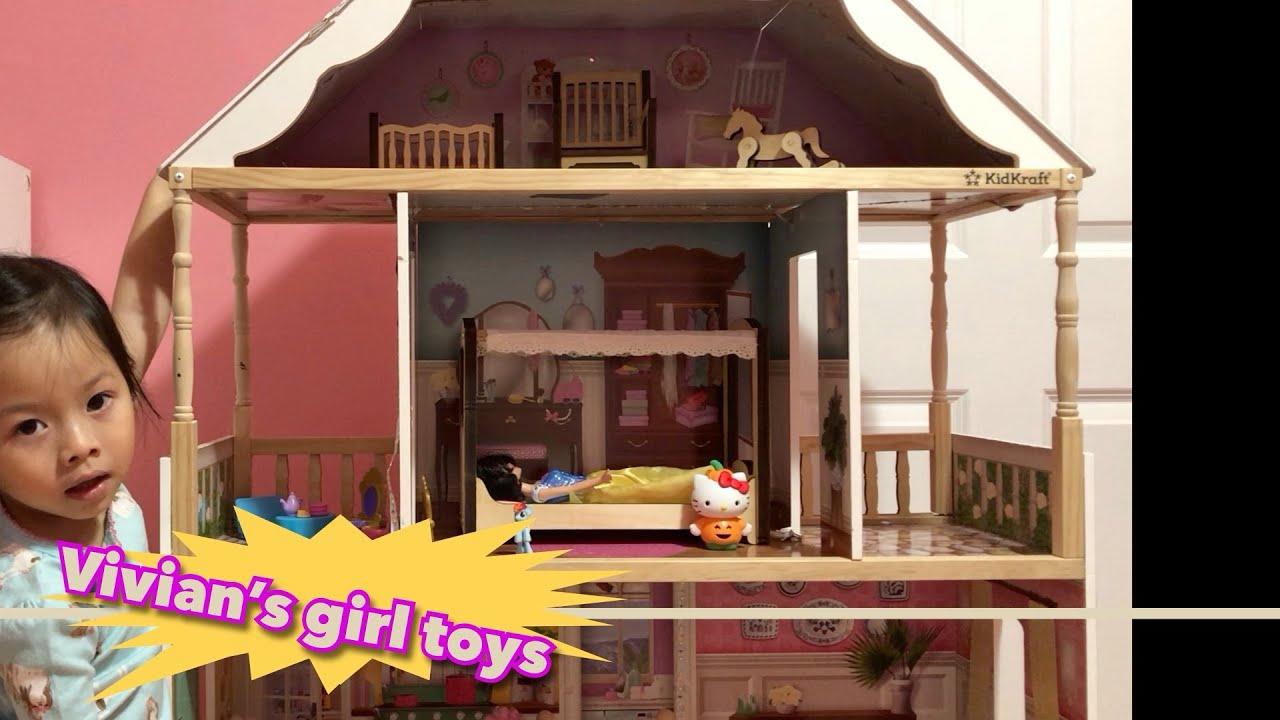 Vivian's đồ chơi con gái – Charlotte Dollhouse ( Nhà của búp bê )