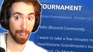 Asmongold Reacts To Blizzard Breaking The Silence On The Tournament Ban With An Official Statement