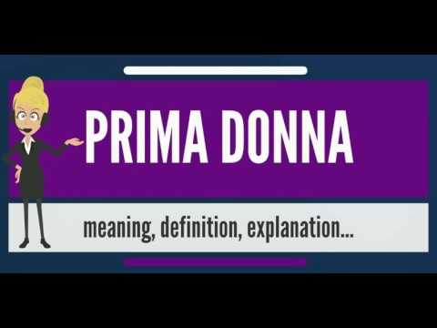 What is PRIMA DONNA? What does PRIMA DONNA mean? PRIMA DONNA meaning, definition & explanation
