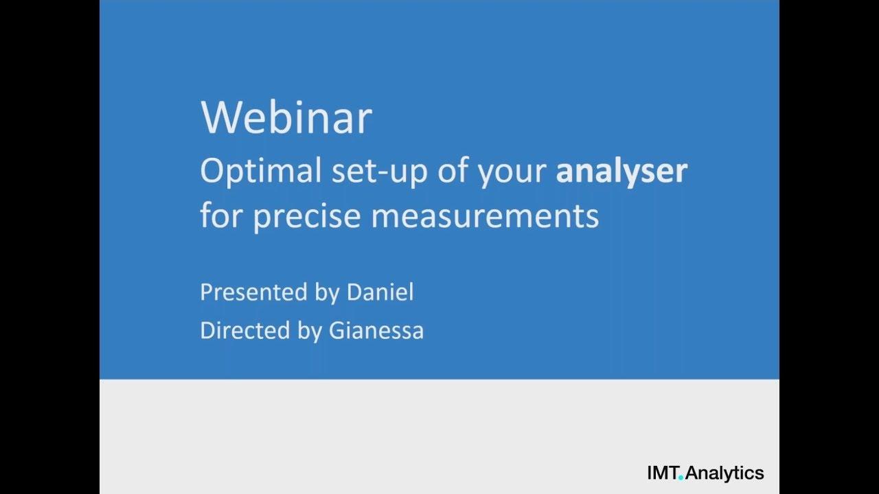 Analysers' Training Videos • IMT Analytics AG