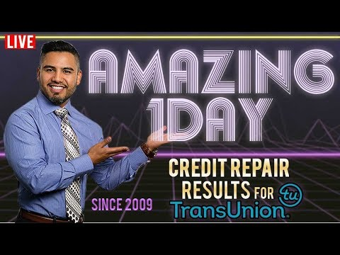 How to get 24hr Credit Repair Results for Transunion LIVE Video #gizzycredit