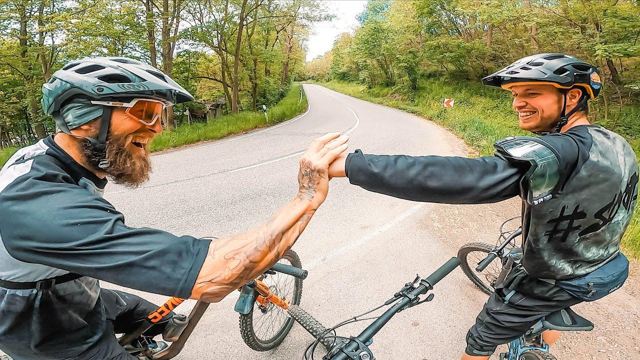 Seine Hometrails sind ein Traum!😳 MTB Enduro & Pitbike CRASH | Canyon Torque | Fabio Schäfer
