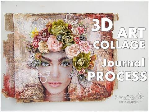 3D Art Collage Process using Magazine Cut Outs ♡ Maremi's Small Art ♡