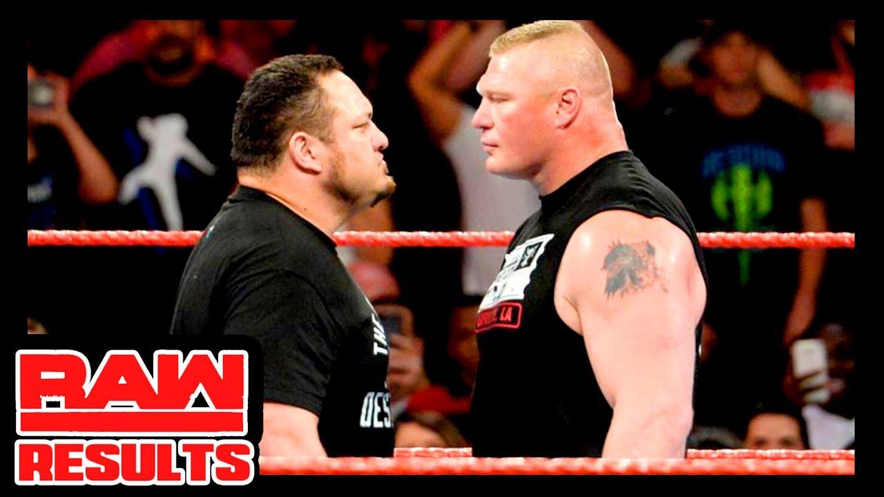 WWE Monday Night RAW Results - GBOF Rematch, Brock Lesnar Speaks, Kurt Angle - Corey Graves, More