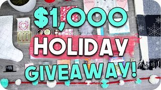 HUGE Holiday Giveaway 2017 - $1,000 VALUE! Holiday Gift Ideas!