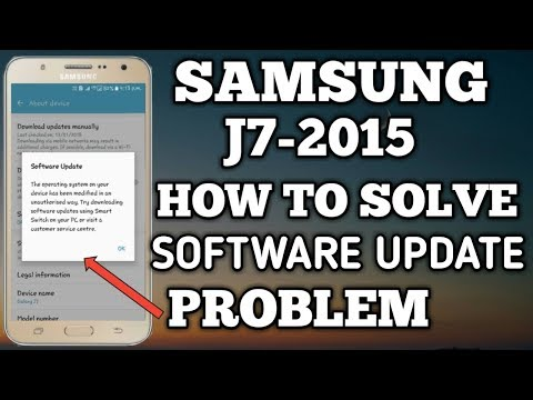 Samsung Galaxy J7 2015 How To Solve Software Update Problem