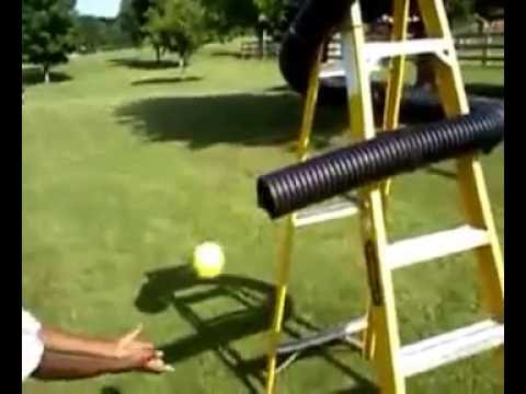 loaded pitching machine
