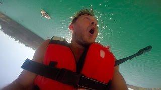 Неудачный прыжок в воду с подушки Водный блоб. РЖАКА