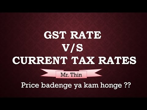 GST Rates in India | New GST Rates v/s Current Tax Rate | Impact of GST on Goods and services