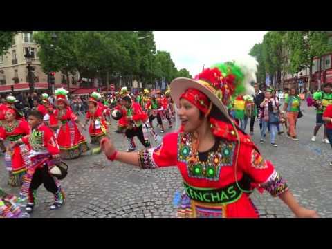 Bolivian Carnaval Dance Tinkus en PARIS 2nd july 2017