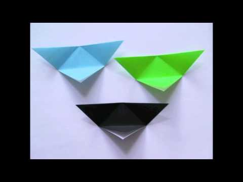 origami triangle box instructions