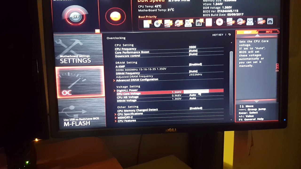 How to Overclock the MSI B350 Tomahawk with Ryzen 1700x
