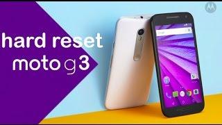 Como Desbloquear Motorola Moto G 3º Geração || Hard Reset, Formatar. G-Tech