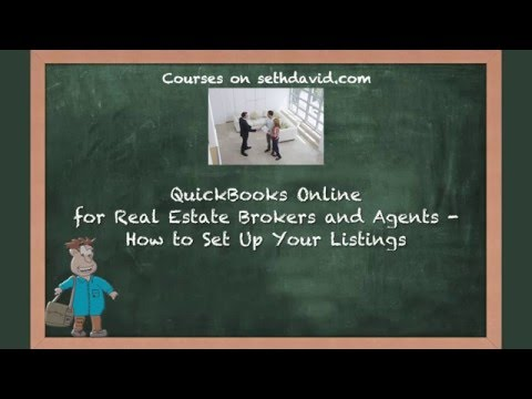 QuickBooks Online for Real Estate Brokers and Agents How to Set Up Your Listings