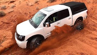 Dead End Trail Leaves Nissan Titan Stuck In The Sand