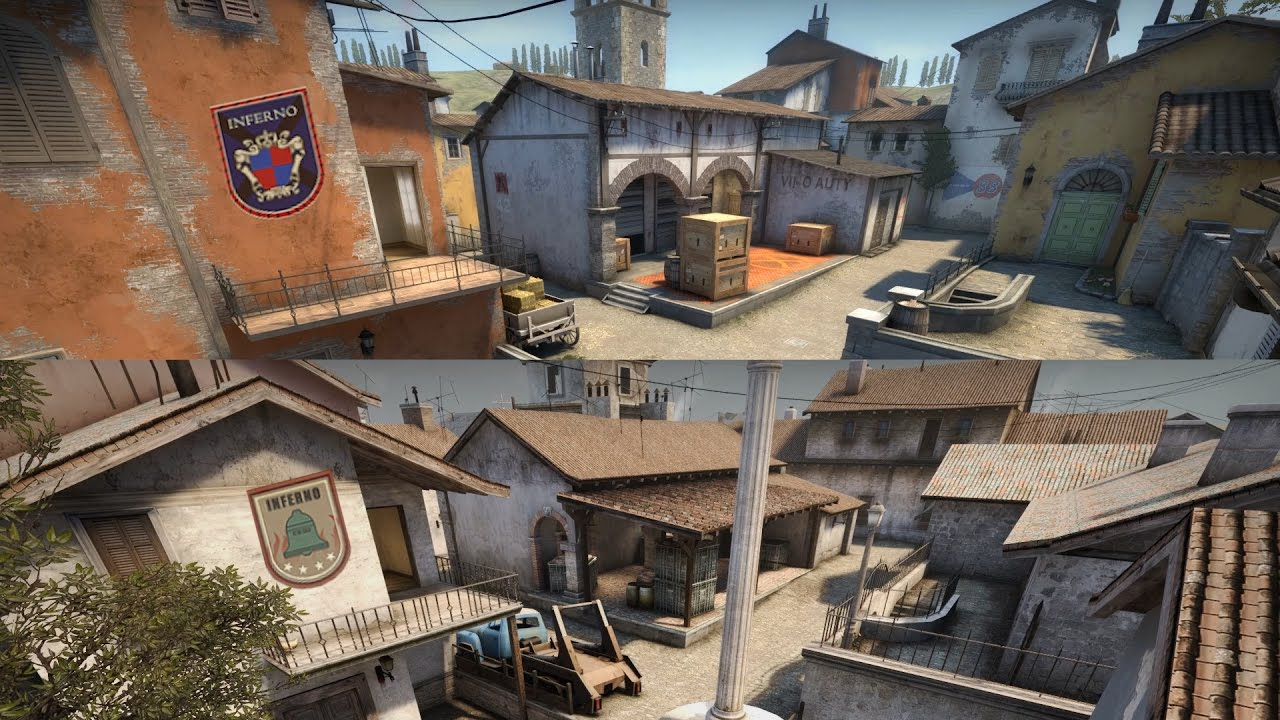 Counter Strike Global Offensive New Inferno Map Vs Old Inferno Map on supernatural map, narco map, beowulf map, aeneid map, purgatorio map, divine comedy map, autobahn map, gta san andreas map, 9 circles of hell map, battlefield map, the odyssey map, revelation map,