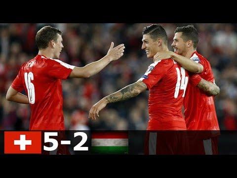 Svájc vs Magyarország 5-2 Összefoglaló VB Selejtező 07/10/2017