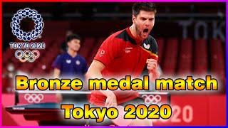 Dimitrij Ovtcharov VS Lin Yun-Ju : bronze medal match Tokyo 2020