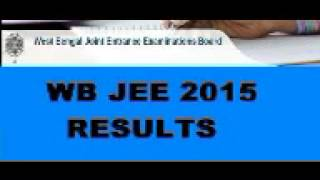 WBJEE 2015 Result, WBJEE 2015 Rank Card, WBJEEB Results 2015