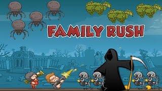 Мультик игра- стрелялки для детей - Семья против зомби 2 часть