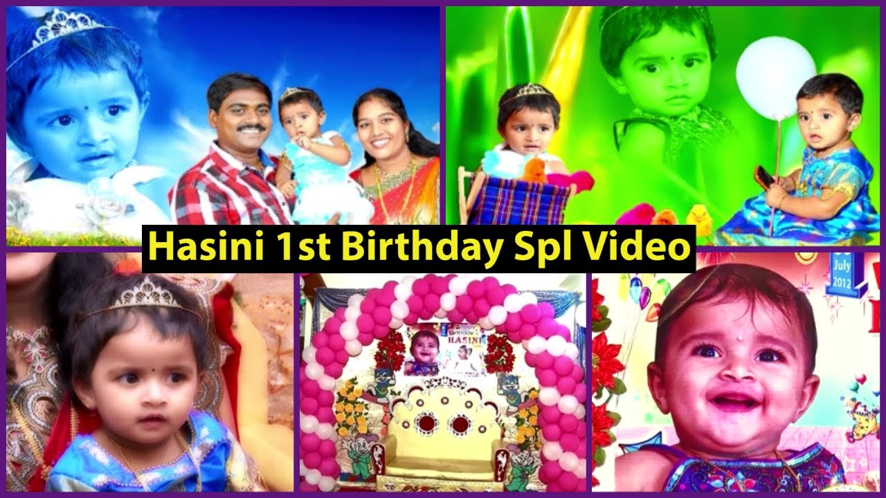 Hasini 1st Birthday Video / Happy Birthday To My Princess / Most Memorable and Happiest Moments