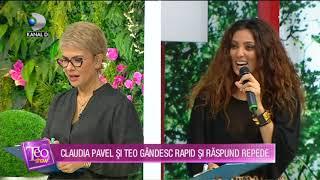 Teo Show (11.11.) - Claudia Pavel si Teo, provocarea suprema! Gandesc rapid si rapund repede!