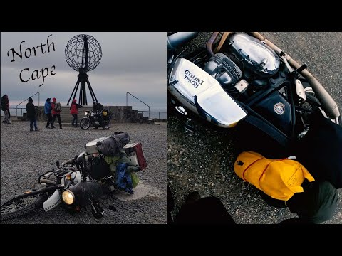 WINDY Motorcycle ride to the NORTH CAPE! #Alta #northcape #royalenfield