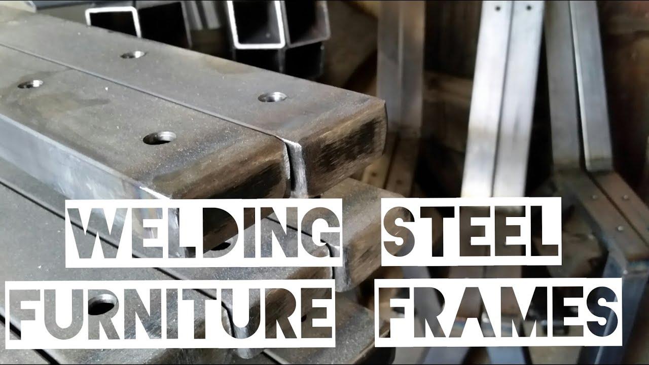 Welding Steel Furniture Frames - YouTube