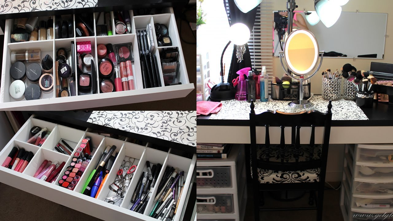 Makeup Collection Storage Amp Vanity Tour 2013 Youtube