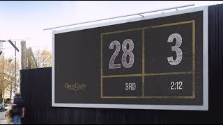 New Orleans Saints fans are giving Atlanta a 28-3 Billboard