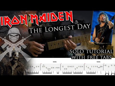 How to play Adrian Smith's solos #29 The Longest Day (with tablatures and backing tracks)