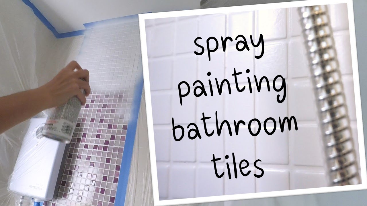 spray painting our bathroom tiles with rustoleum tub and tile