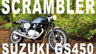 Suzuki GS450 Scrambler '86 Sound and Walkaround