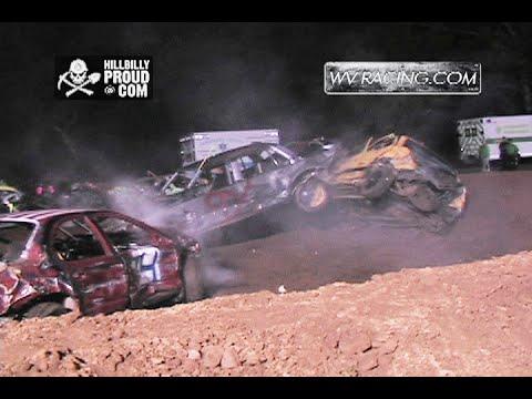 Compact Cars Finale Demo Derby Doddridge Co Fair WV August 20 2015