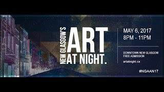 The Annual Art At Night 2017 Downtown New Glasgow, Nova Scotia, Can...
