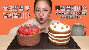 3만명 기념 코코볼이 보내준 투썸플레이스 케이크 먹방 Dessert Mukbang