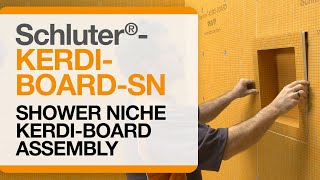 Schluter® KERDI BOARD SN Shower Niche Within KERDI BOARD Assembly
