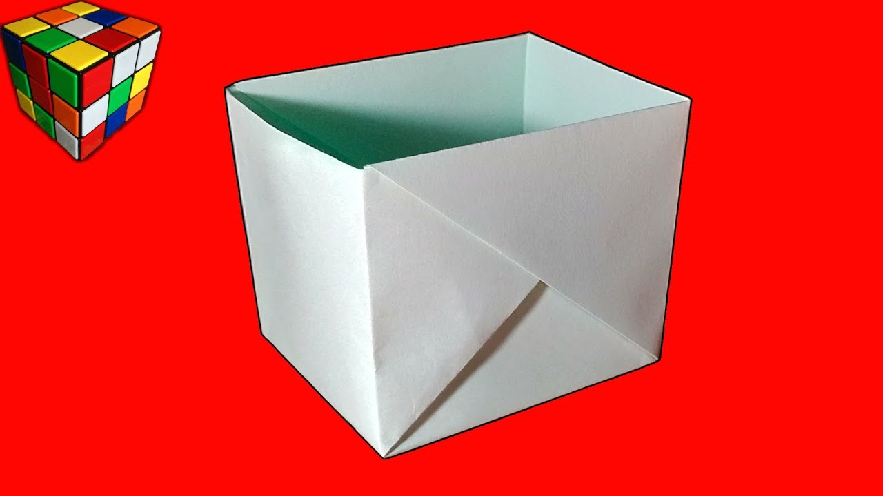 Как сделать КОРОБОЧКУ из бумаги. Коробочка оригами своими ...
