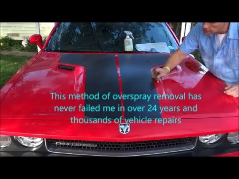 """National Overspray Removal Services """"Polyurethane spray foam overspray removal from auto paint"""""""