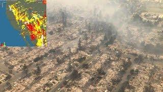 Масштабные пожары в Северной Калифорнии