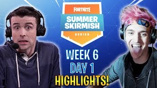 WEEK 6 Fortnite Summer Skirmish Day 1 Highlights & Funny Moments!