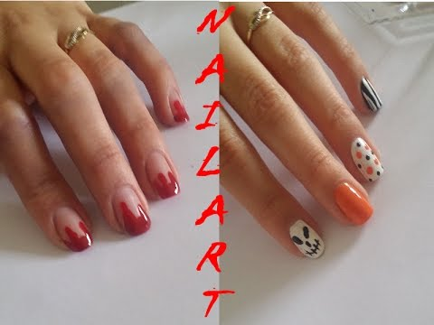 nail art halloween d butant rapide et simple youtube. Black Bedroom Furniture Sets. Home Design Ideas