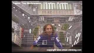 Alain Robert (l'homme araignée) grimpe la Tour Montparnasse (vidéo officielle)