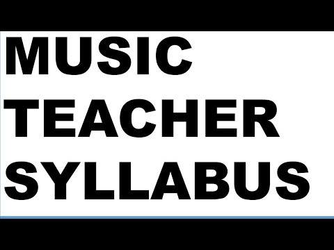 MUSIC TEACHER SYLLABUS