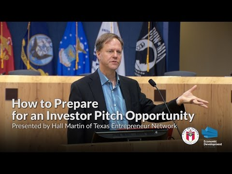 How to Prepare for an Investor Pitch Opportunity