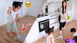 بيبي تنظف البيت لأمها| قمّة الكيااتة🥰عصام ونور