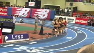2013 Boston Indoor Games Women's 2 mile: Tirunesh Dibaba and Mary Cain